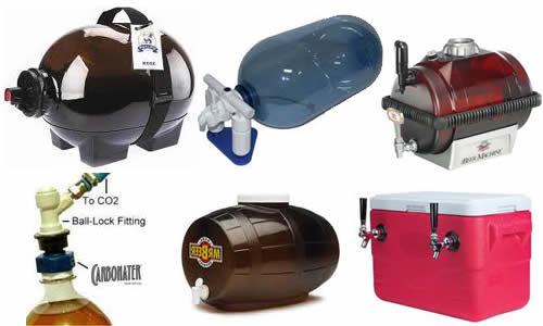 Plastic homebrew dispensers