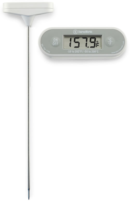 Long Stem waterproof digital thermometer