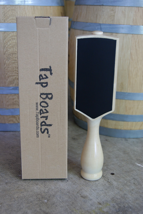 Dual Sided Chalkboard Beer Tap Handle - Natural