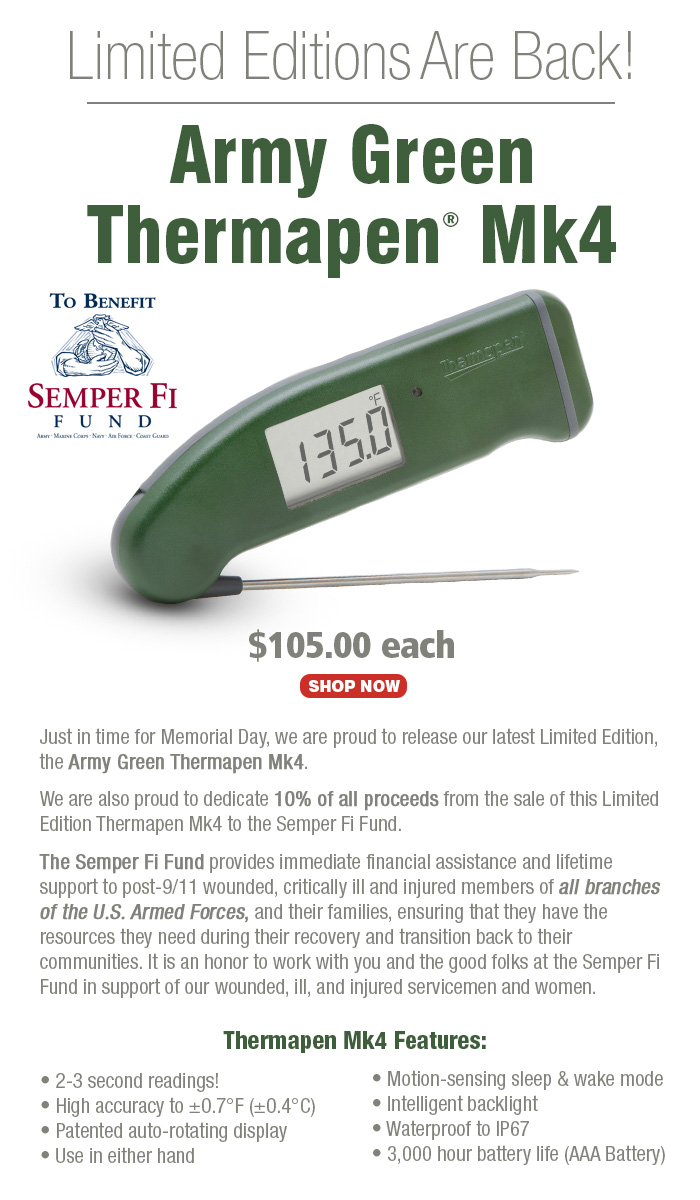 Limited Edition Army Green Thermapen Mk4