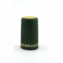 Green w/Gold Grapes Shrink Cap