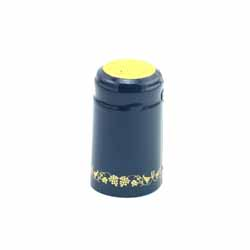Blue/Gold Grape Shrink Caps