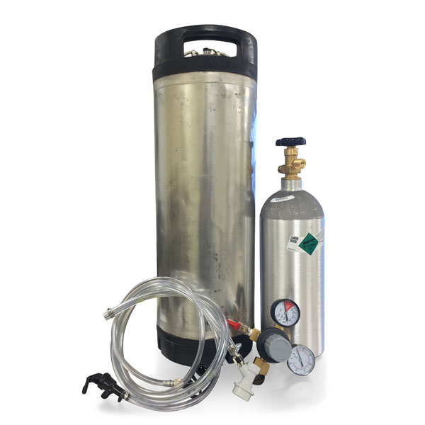 Ball Lock Kegging System w/Used Keg - Filled CO2 Tank (In-Store Pickup)