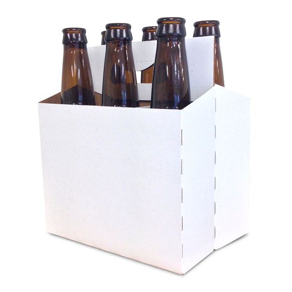 White 6 Pack Carriers