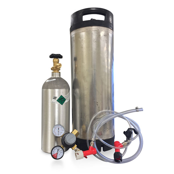 Pin Lock Kegging System W Used Keg Empty Co2 Tank
