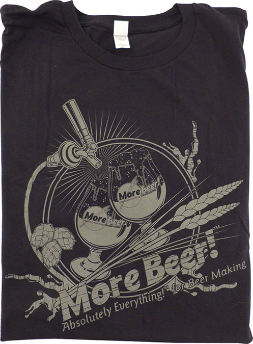 T-Shirt - Black MoreBeer! Draft Faucet - L