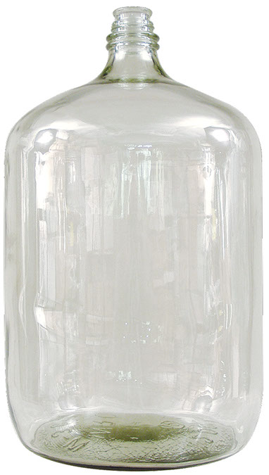 6.5 Gallon Italian Glass Carboy With Threaded Neck