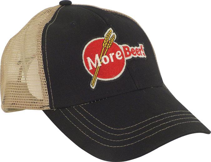 MoreBeer! Trucker Hat - Black and Tan
