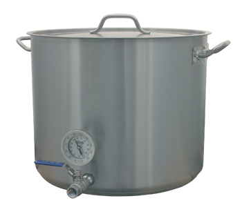 15 Gallon Notched Mash Tun With Notched Lid