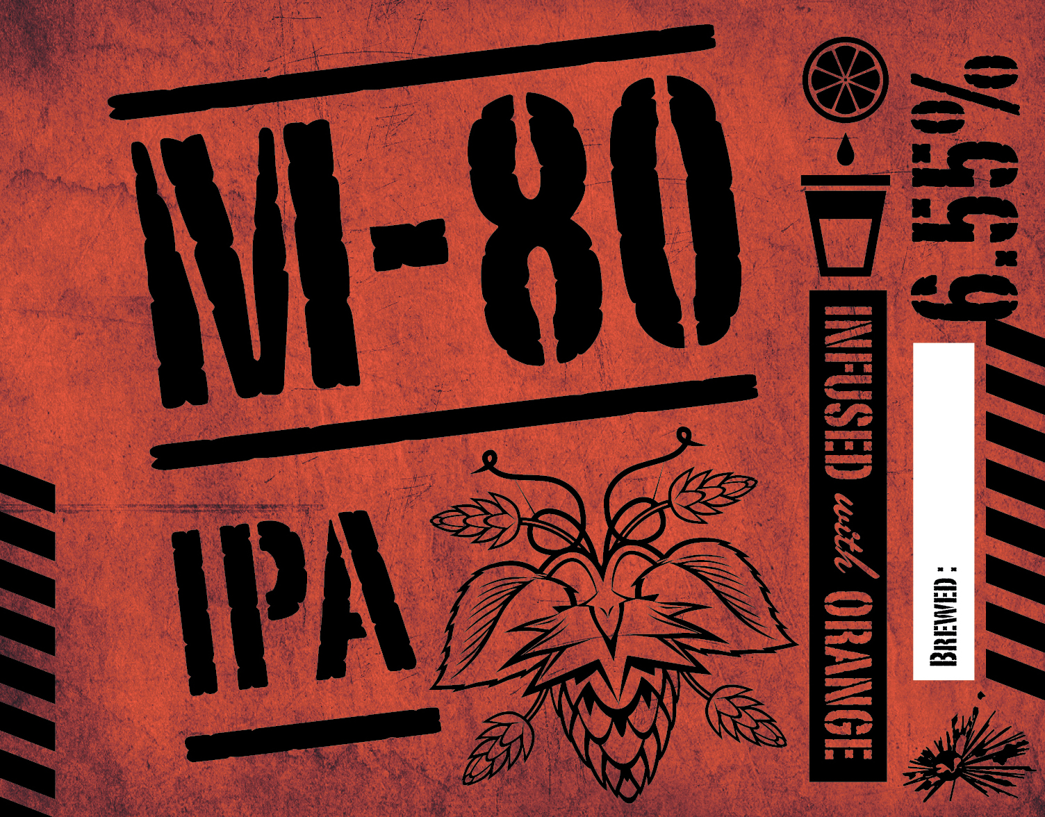 M-80 IPA - GrogTag Kit Label