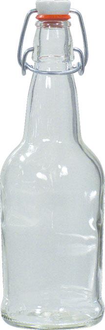 EZ Cap Bottles - 16 oz Clear Swing Top (Qty 12)