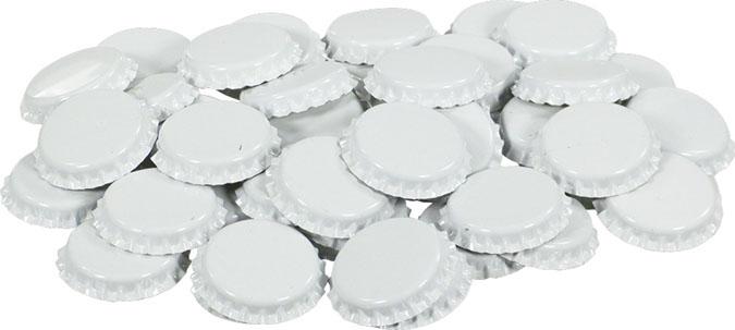 White Bottle Caps (50)