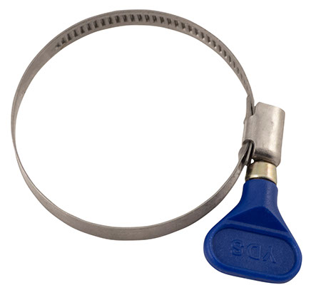 """Butterfly Tubing Clamp (Large) - Fits 2 3/8"""" OD Hose"""