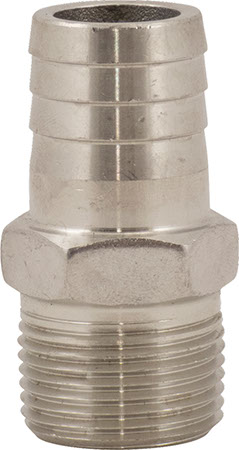 Stainless - 3/4 in mpt x 3/4 in Barb