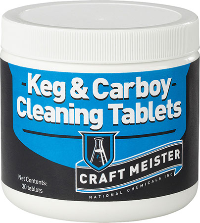 Craft Meister Keg and Carboy Cleaning Tablets - 30 ct