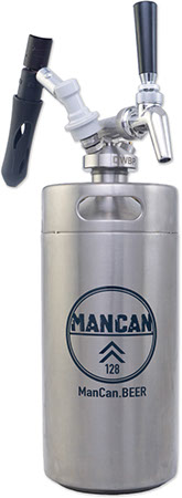 ManCan SS Mini-Keg Growler Serving System - 128 Machismo