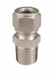 "Stainless - 1/2"" Comp. x 1/2"" MPT"