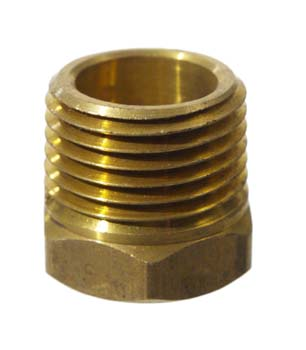 "Brass 3/8"" FPT x 1/2"" MPT Bushing"