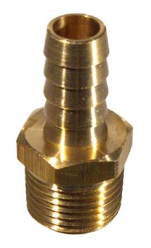 Brass - 1/2in. MPT x 1/2in. Barb