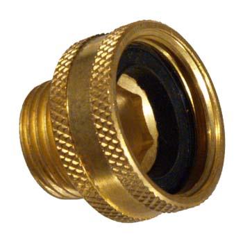 """Brass Hose - Female Garden Hose Thread x 1/2"""" MPT"""
