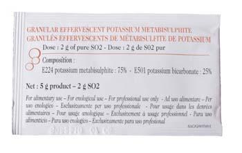 Effervescent SO2 Granules 2 Grams (Box of 40)