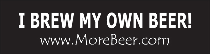 I Brew My Own Beer! Bumper Sticker
