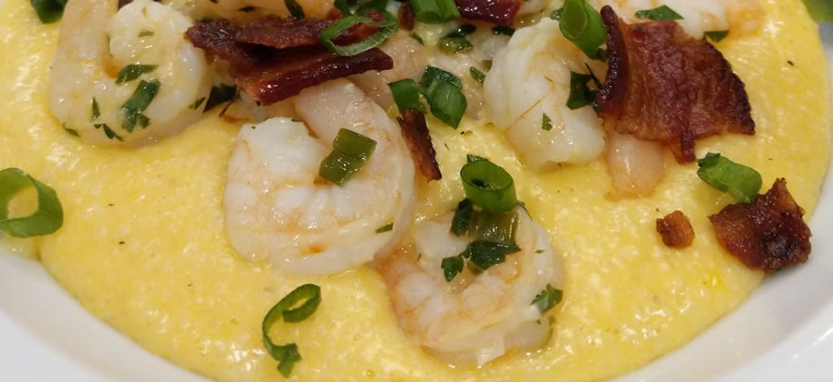 Shrimp and Beer-Cheese Grits