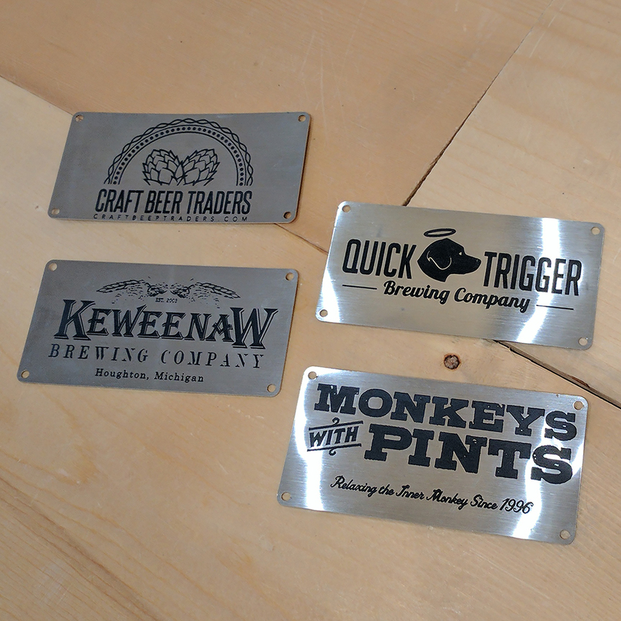 Custom Engraved Stainless Name Plate on Sale!