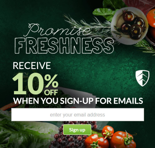 10% with Newsletter SignUp