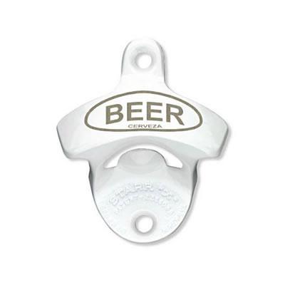 Beer Cerveza Starr Bottle Opener - White