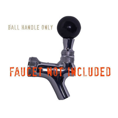 Faucet Handle - Round Black