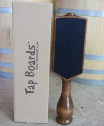 Dual Sided Chalkboard Beer Tap Handle - Walnut