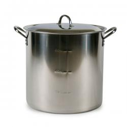 Economy 7.5 Gallon Stainless Brew Pot with Lid