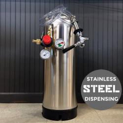 Stainless Steel Kegerator Homebrew Kegging System - New Keg