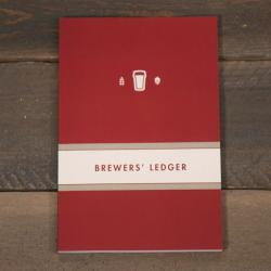 Brewers' Ledger Homebrew Notebook - Red