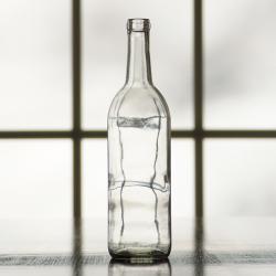 750 ml Clear Burgundy Bottle, Case of 12