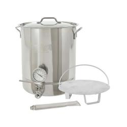 Bayou Classic 8 Gallon Premium Stainless Steel Brew Kettle Set