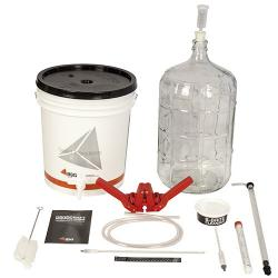 Gold Beer Equipment Kit with 6 Gallon Glass Carboy