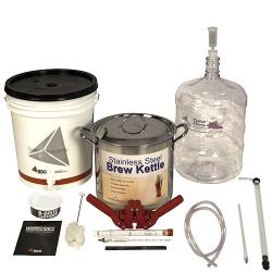 Gold Beer Equipment Kit with 6 Gallon PET Carboy & Brew Pot