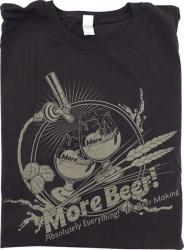T-Shirt - Black MoreBeer! Draft Faucet - M