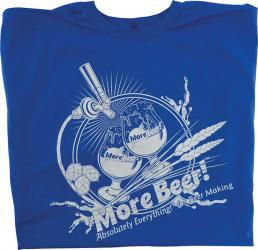 T-Shirt - Blue MoreBeer! Draft Faucet - XL