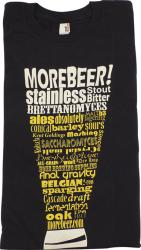 T-Shirt - Black MoreBeer! Beer Terminology Glass - XL