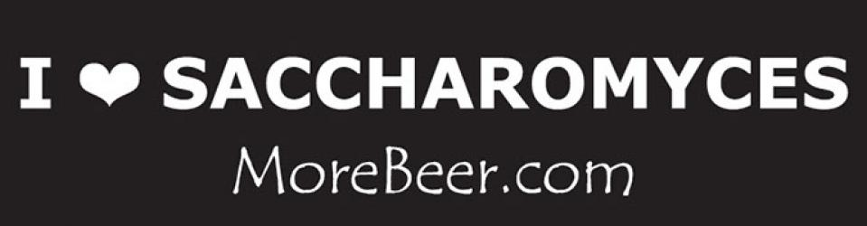 I Heart Saccharomyces - MoreBeer! Bumper Sticker