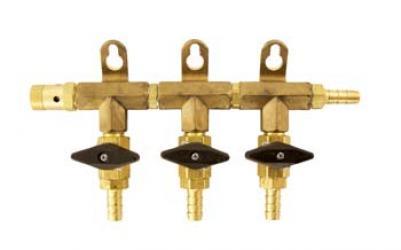 Gas Manifold - 3 Way