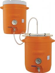 10 Gallon Cooler All Grain System With Thermometers Installed