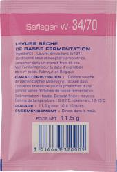 Yeast (Dry) - Saflager W-34/70 (11.5 g)