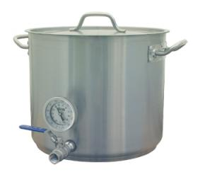 8 Gallon Notched Mash Tun With Notched Lid