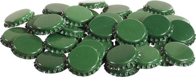 Green Bottle Caps (50)