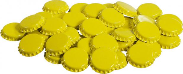 Yellow Bottle Caps (50)
