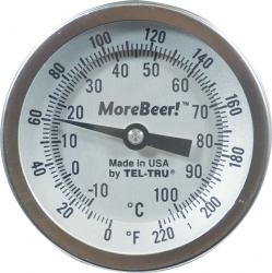 Dial Thermometer (3'' Face x 2
